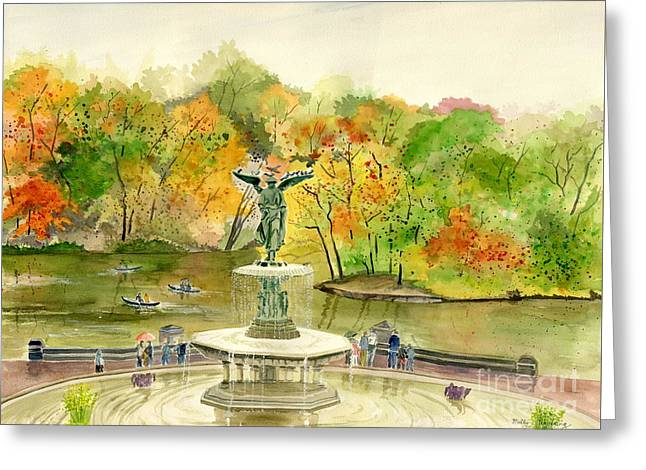Autumn At Central Park Ny Greeting Card