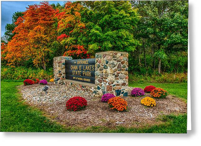Autumn At Chain O'lakes State Park Greeting Card by Gene Sherrill