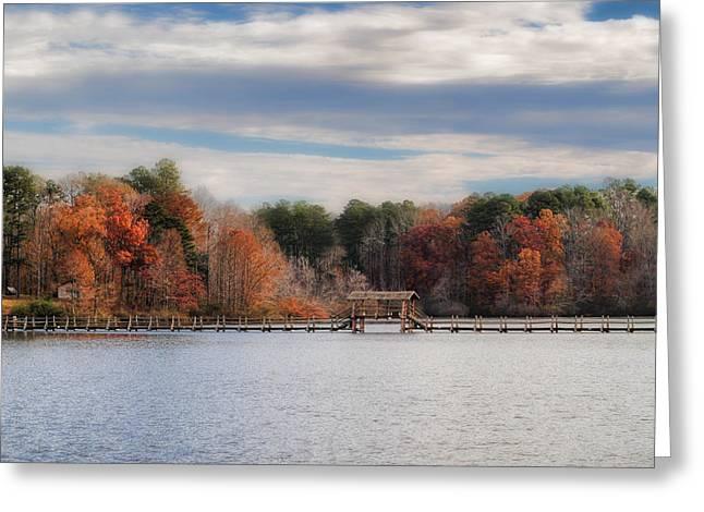 Autumn At Chickasaw - Lake Scene Greeting Card by Jai Johnson
