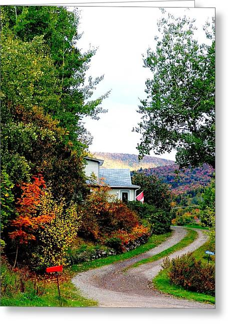 Autumn At French River Greeting Card by Janet Ashworth