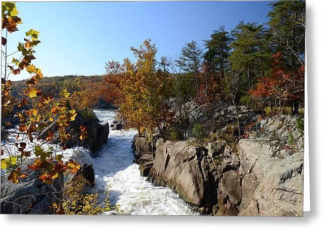 Autumn At Great Falls Greeting Card