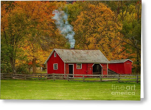 Autumn At Hale Farm Greeting Card by Joshua Clark