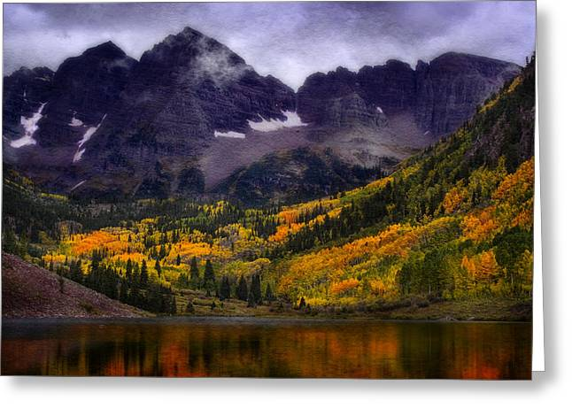 Greeting Card featuring the photograph Autumn At Maroon Bells by Ellen Heaverlo