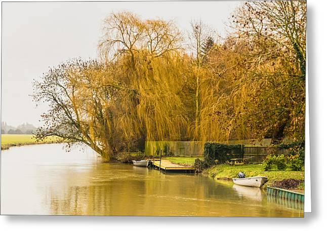 Autumn At River Ouse  Greeting Card