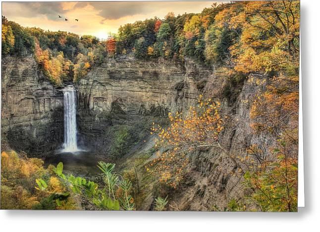 Autumn At Taughannock Falls Greeting Card by Lori Deiter