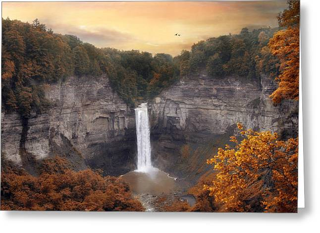 Autumn At Taughannock Greeting Card by Jessica Jenney