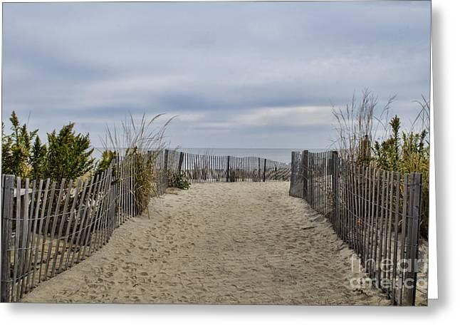 Autumn At The Beach Greeting Card