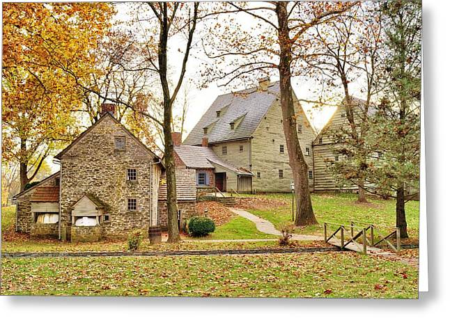 Autumn At The Cloister Greeting Card