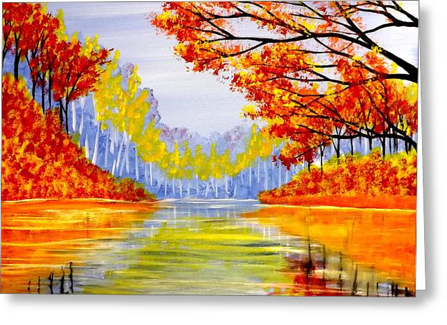 Autumn At The Lake Greeting Card by Darren Robinson