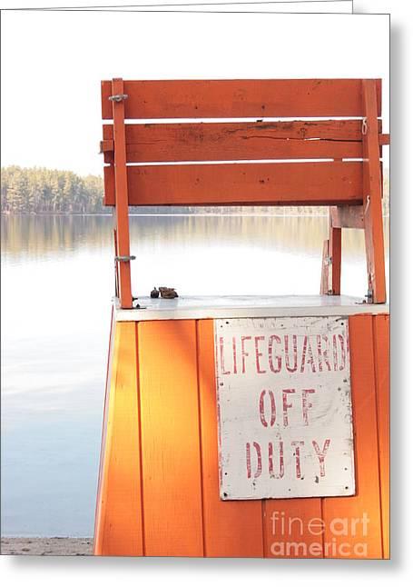 Autumn At White Lake Greeting Card