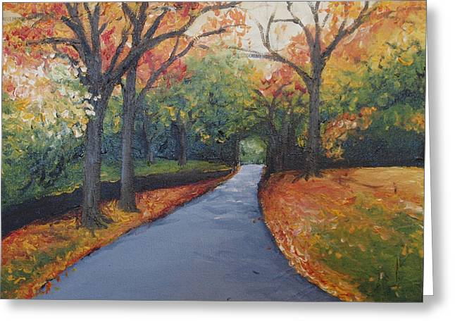 Autumn At Woodlawn Greeting Card by Monica Veraguth