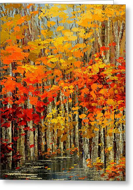 Autumn Banners Greeting Card