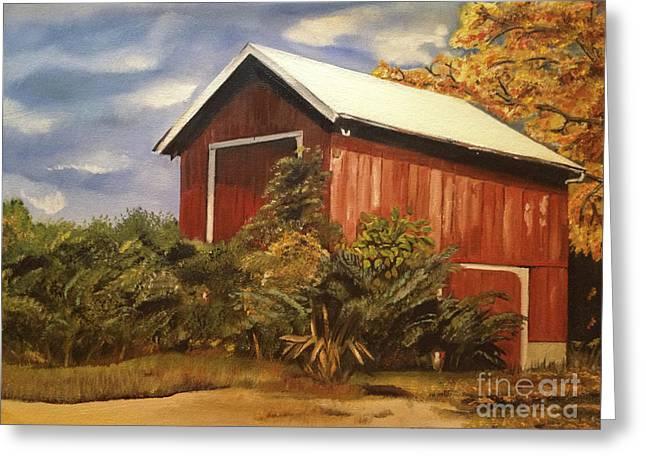 Autumn - Barn - Ohio Greeting Card by Jan Dappen