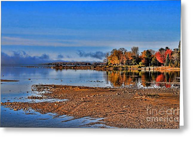 Autumn Beach Solitude Greeting Card