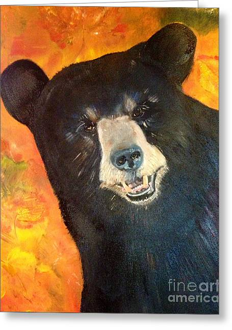 Autumn Bear Greeting Card by Jan Dappen