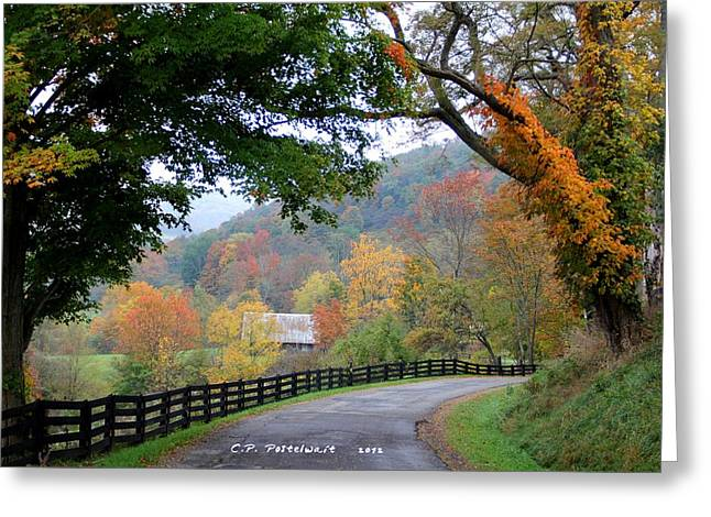 Autumn Beauty Around The Bend Greeting Card
