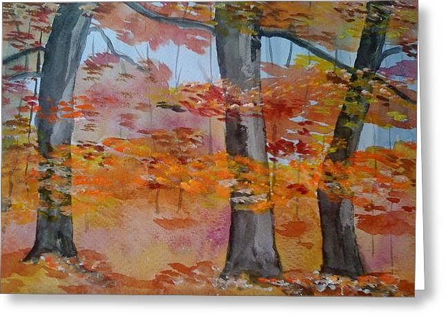 Greeting Card featuring the painting Autumn Beauty by Judi Goodwin
