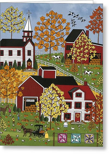 Autumn Blessings Greeting Card by Medana Gabbard