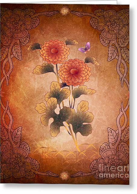 Autumn Blooming Mum Greeting Card by Bedros Awak