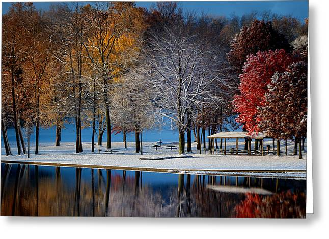 Autumn Blues Greeting Card by Rob Blair