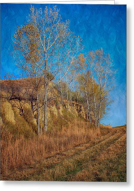 Autumn Bluff Painted Greeting Card