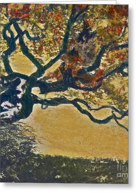 Autumn Bonsai Tree - Lithograph Greeting Card