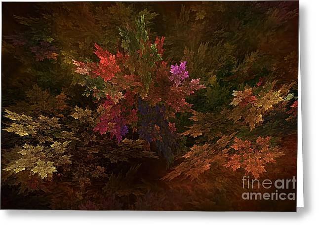 Greeting Card featuring the digital art Autumn Bouquet by Olga Hamilton