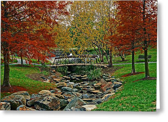 Greeting Card featuring the photograph Autumn Bridge by Andy Lawless