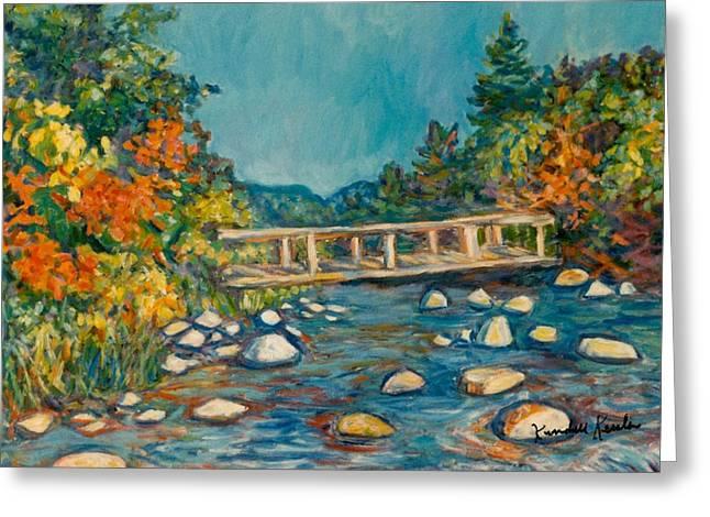 Autumn Bridge Greeting Card by Kendall Kessler