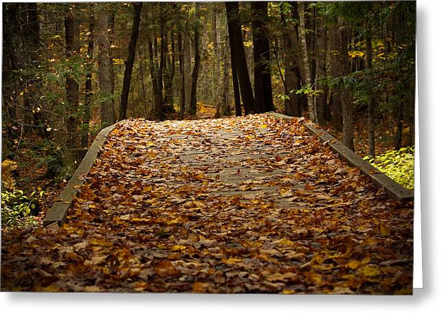 Autumn Bridge Greeting Card