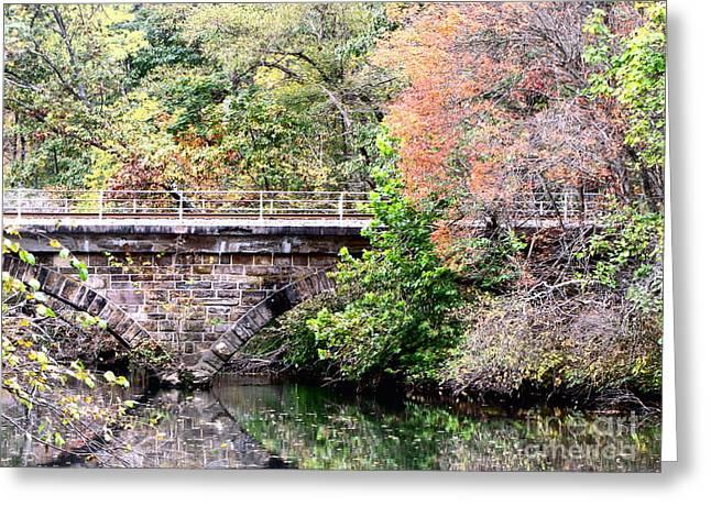 Autumn Bridge Greeting Card by Melissa Stoudt