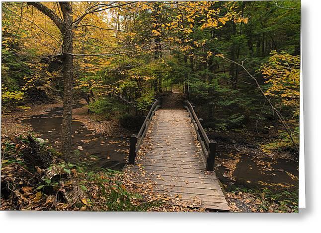 Autumn Bridges. Greeting Card