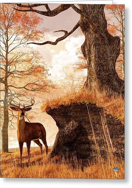 Autumn Buck Greeting Card by Daniel Eskridge