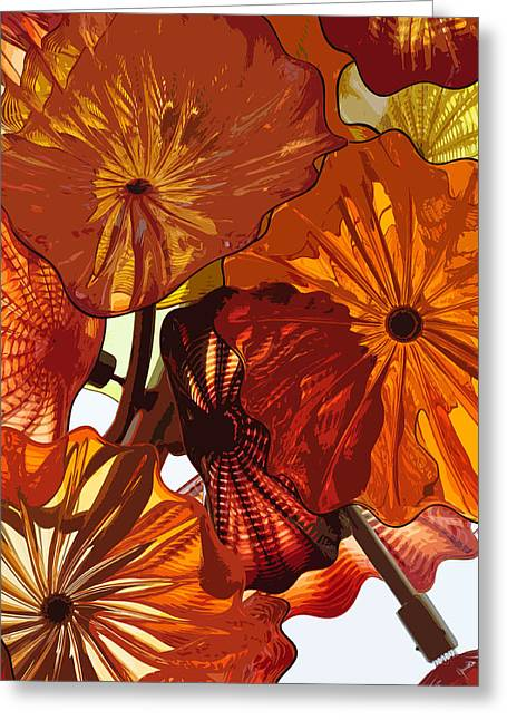 Greeting Card featuring the digital art Autumn Burst by Kirt Tisdale