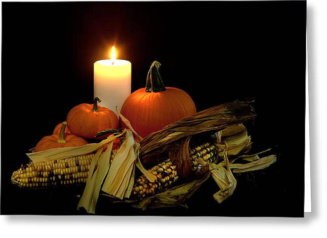 Autumn By Candle Light Greeting Card