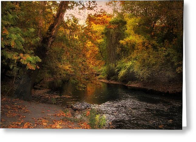 Autumn By The River Greeting Card by Jessica Jenney