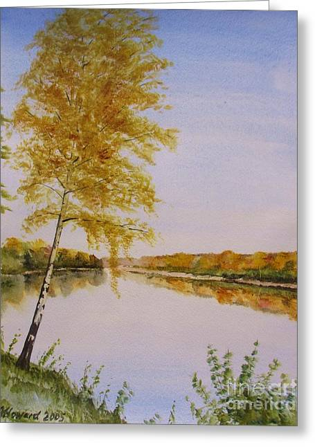 Autumn By The River Greeting Card