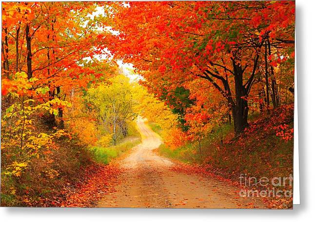 Autumn Cameo 2 Greeting Card