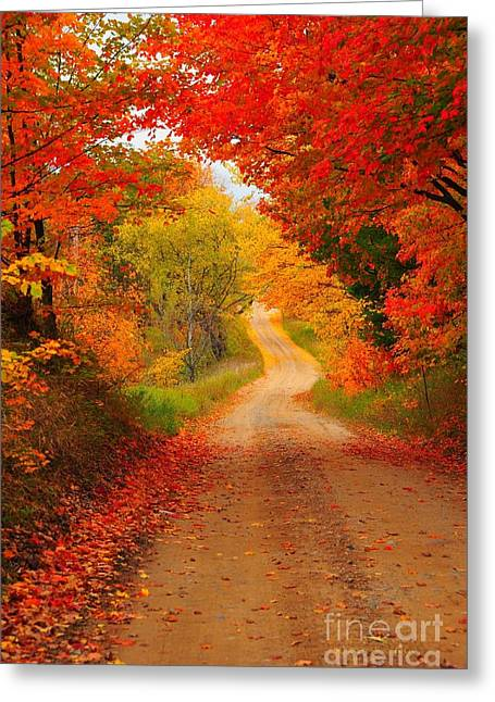 Autumn Cameo Greeting Card