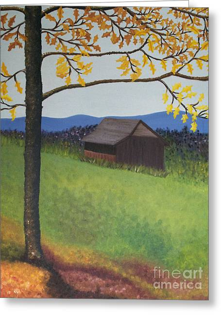 Autumn Greeting Card by Cecilia Stevens