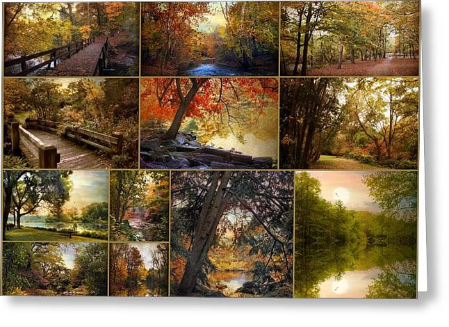 Autumn Collection Greeting Card by Jessica Jenney
