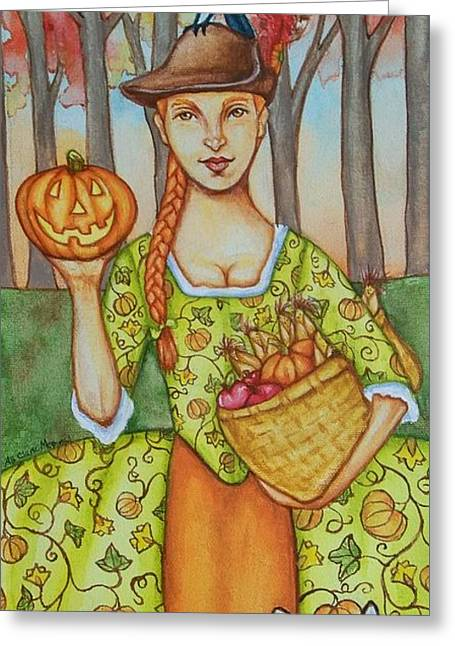 Autumn Colonial Greeting Card by Beth Clark-McDonal