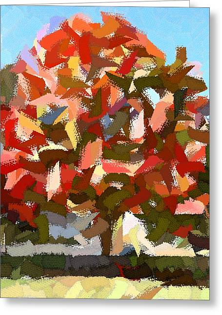 Autumn Color Riot Abstract Greeting Card