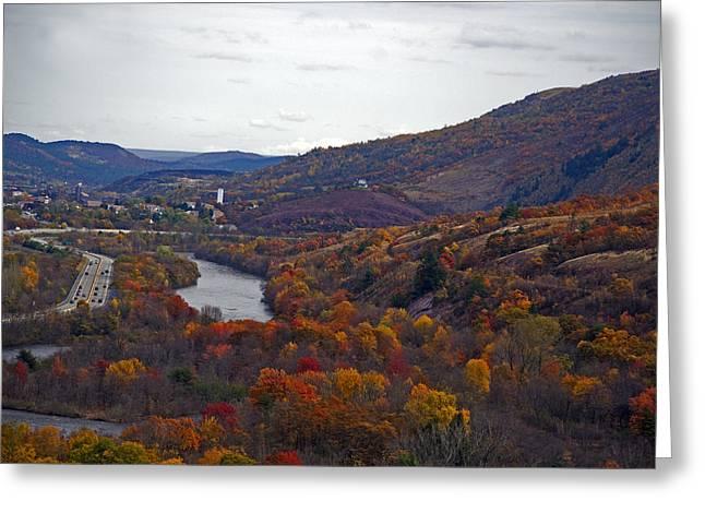 Autumn Colored Paths Greeting Card by Elsa Marie Santoro