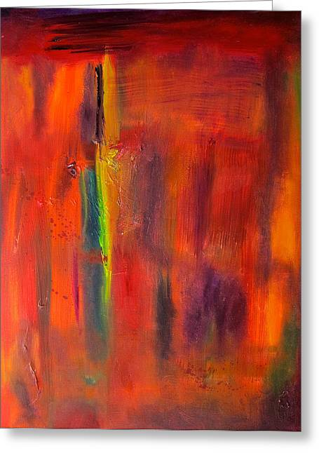 Autumn Colors Abstract Greeting Card