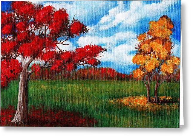 Autumn Colors Greeting Card by Anastasiya Malakhova