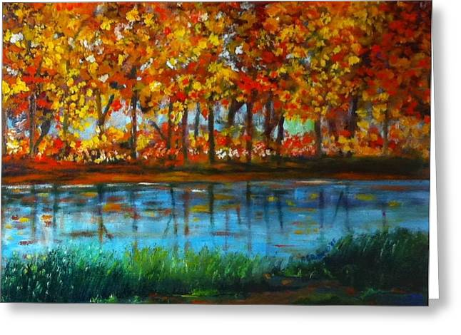 Autumn Colors Greeting Card by B Russo