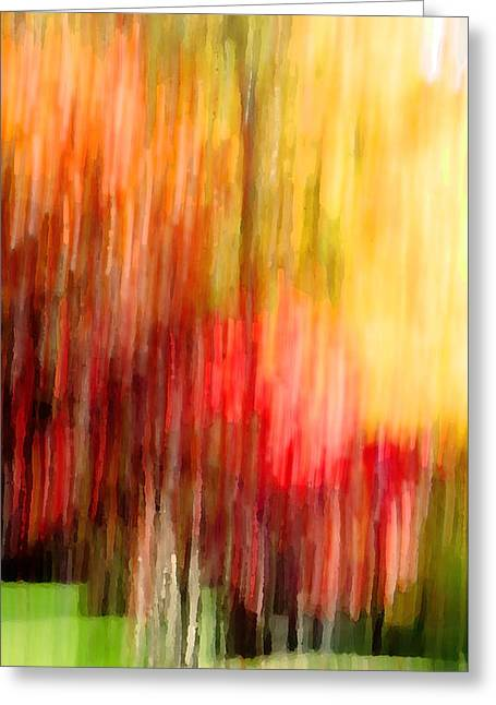 Autumn Colors In Abstract Greeting Card