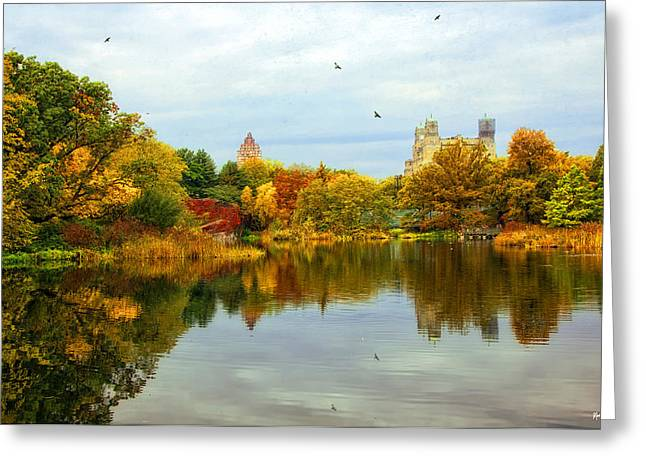 Autumn Colors - Nyc Greeting Card by Madeline Ellis