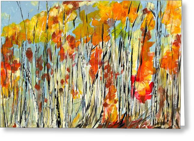 Autumn Colours Greeting Card by David Dossett